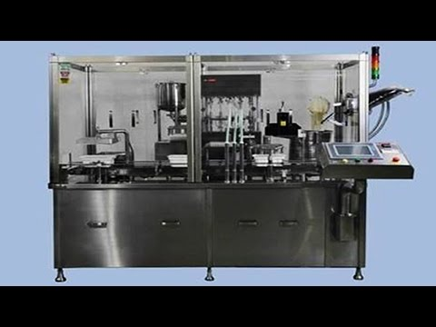 automatic pre filled syringe filling plugging machine filler vacuum stopper equipment حقنة ملء آلة