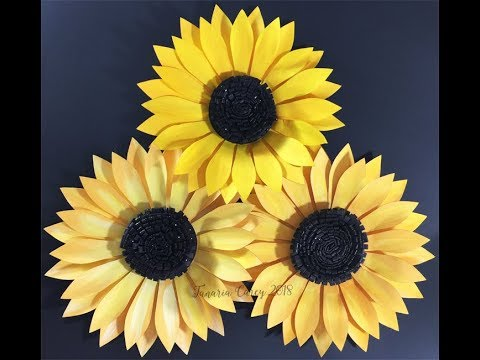 Diy How To Make A Paper Sunflower Template By Vcidesign