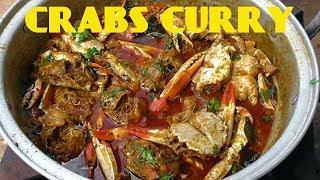 CRABS CURRY RECIPE/peethala eguru/how to make crabs tomato curry