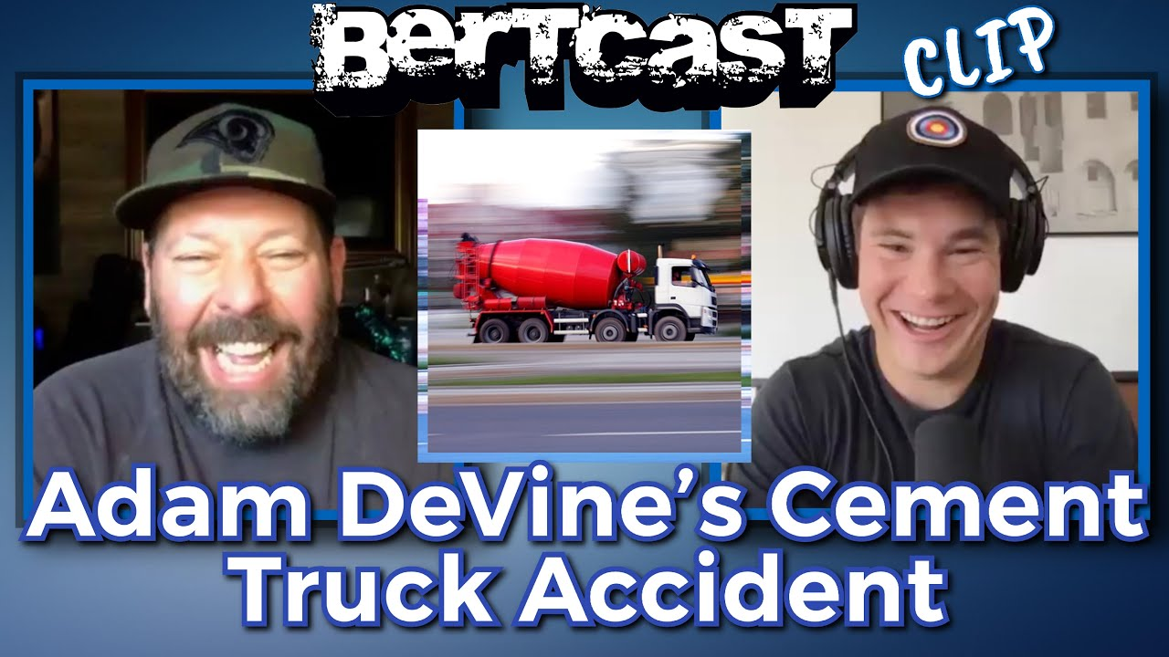 Adam DeVine Got Ran Over by a Cement Truck