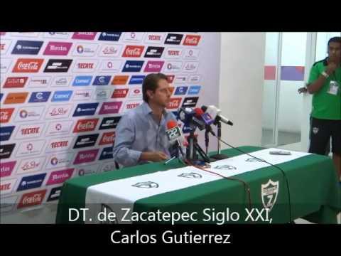 CARLOS GUTIERREZ, DIRECTOR TÉCNICO DE ZACATEPEC SIGLO XXI