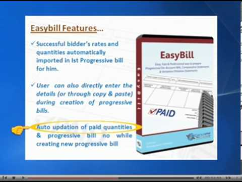 Overview of EasyBill - Progressive/On-account bill preparation software