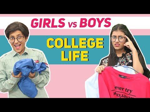 College Life: Girls Vs. Boys | SAMREEN ALI