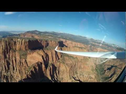 Gliders Playing Below Rim of Kolob Canyon, Utah