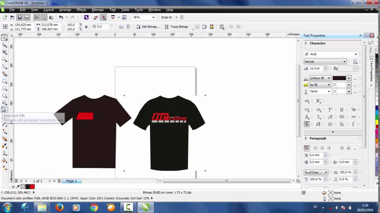 81 Foto Desain Kaos Coreldraw X6 Paling Keren Download Gratis