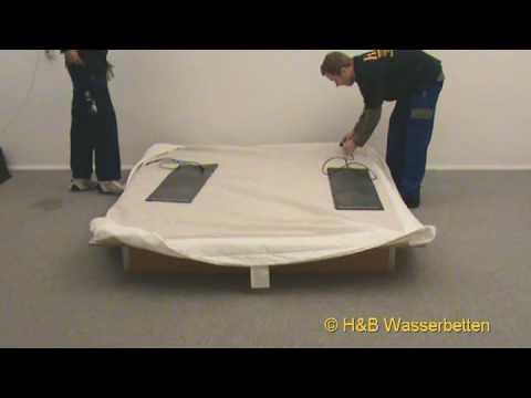 Wasserbett design  Aufbau Wasserbett Softside - YouTube