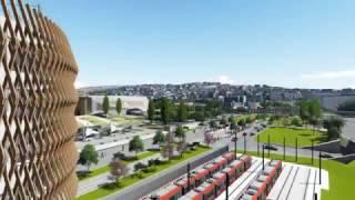 Vidéo de la ligne Ouest-Est de tramway - février 2017