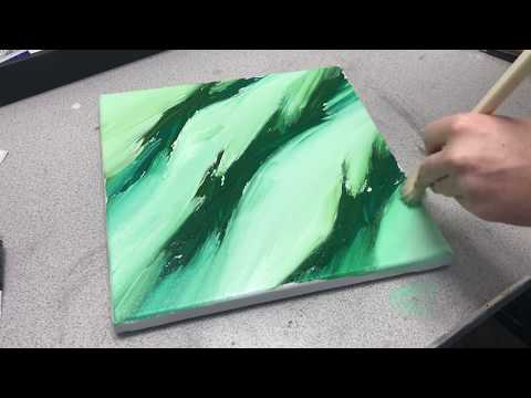 Abstract Acrylic Painting - Blending Acrylics