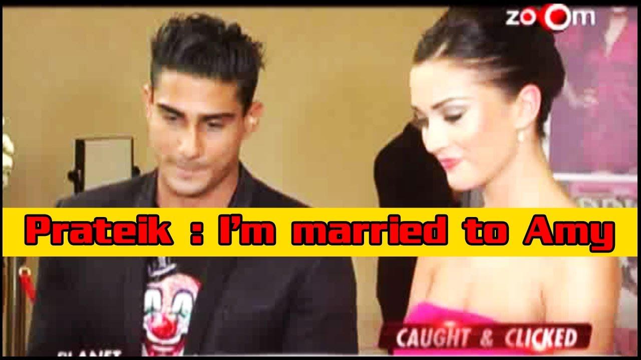 Prateik Babbar: I'm married to Amy Jackson - YouTube