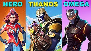 HERO vs THANOS vs OMEGA - Fortnite Battle Royale INFINITY GAUNTLET Gameplay New Update