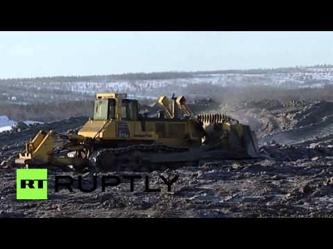 Russia: Bombing for gold - Russia's mining season blasts off