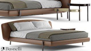 "№163. Modeling Bed "" BusnelliERMIONE "" Autodesk 3ds Max & marvelous designer"