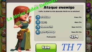 La Mejor Aldea Defensiva Definitiva para Ayuntamiento nivel 7-Hecho por Info Random-Clash of clans