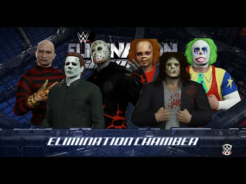 WWE 2K16 - MICHAEL MYERS vs JASON VOORHEES vs CHUCKY vs ...
