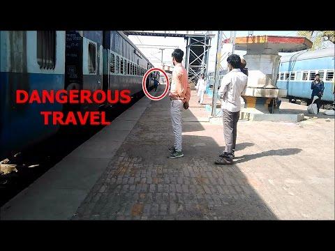 Dangerous travel traffic busy. phaphamau to allahabad single busy rail line Indian railways