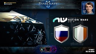 РОССИЯ - ИРЛАНДИЯ: Nation Wars 2019 - StarCraft II + BONUS - Квалификация