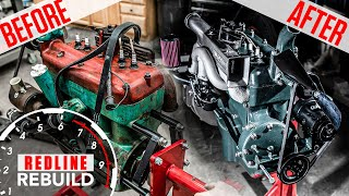 Ford Model A 4-cylinder engine rebuild time-lapse | Redline Rebuilds - S3E4