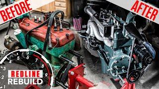 Ford Model A 4-cylinder engine rebuild time-lapse | Redline Rebuilds - S3E4 cмотреть видео онлайн бесплатно в высоком качестве - HDVIDEO