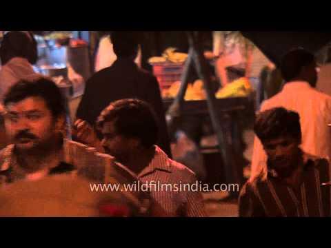 Crowds of pilgrims on Maha Shivratri in Varanasi, Uttar Pradesh, India