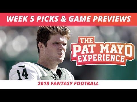 2018 Fantasy Football — Week 5 Picks, NFL Game Previews, Injuries And Survivor