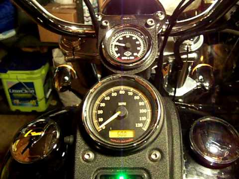 Harley mini tach installed on Dyna Streetbob - YouTube