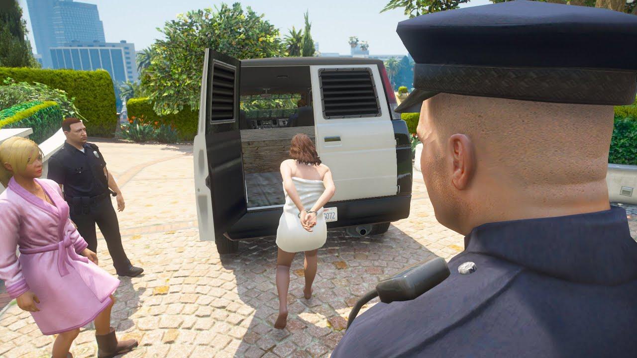 GTA 5 - What Happens if POLICE Michael Caught Amanda Cheating(Secret Funny Ending)