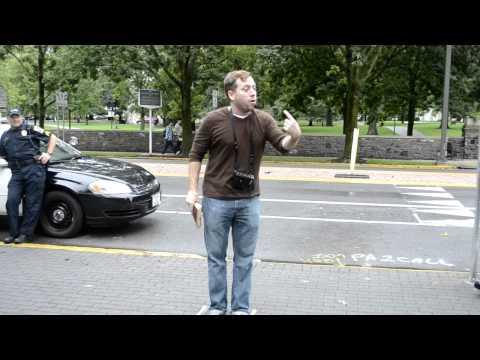 Preaching on Britton Plaza
