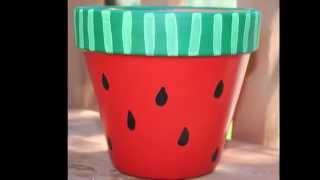 Flower Pot Decorating Ideas - Çiçek Saksısı Süsleme Fikirleri