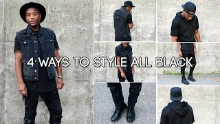 4 ways to style all black by Nocturnal Fashion