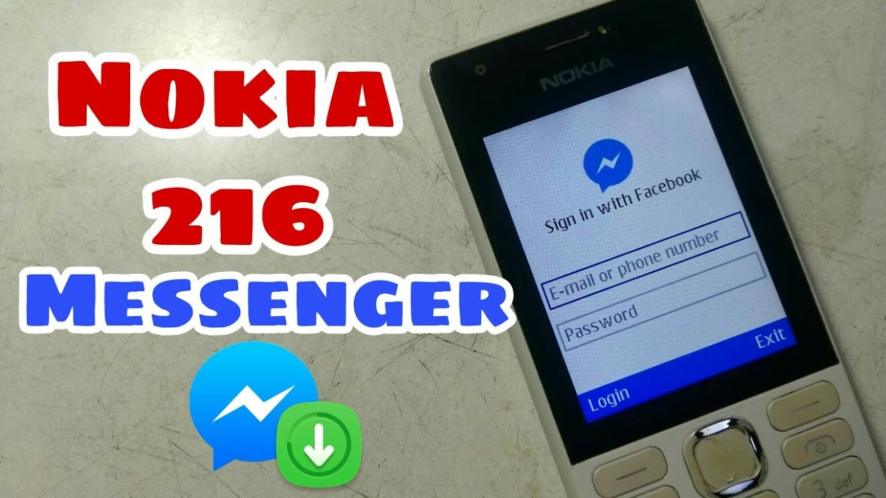 Downloading facebook messenger in Nokia 216 |Hindi|