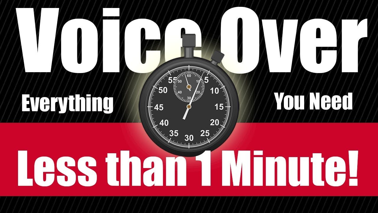 Everything you need to get started in Voice Over - in UNDER a minute - REALLY! #shorts