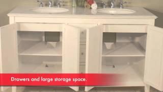 Hwm-206-cw-60 Double Bathroom Vanity