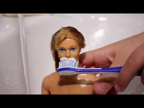 Thumbnail: How to wash barbie toy Fun World for children girl play (Boy barbie)
