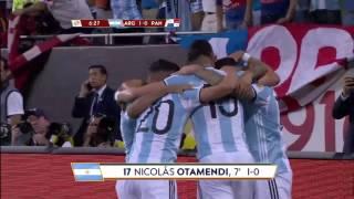 GOAL ARG, Nicolás Otamendi @Notamendi30 No. 17, 7' | @Argentina v @fepafut