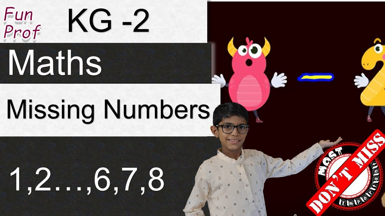Kindergarten 2 (KG2 or K2) Missing Numbers - Kids-Teaching-Kids ...