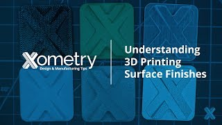 Understanding 3D Printing Surface Finishes