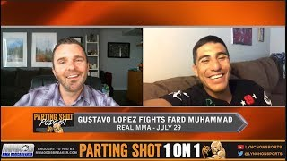 Gustavo Lopez talks Real MMA matchup Jul 28, Managed By Miesha Tate & Golden Knights Hockey