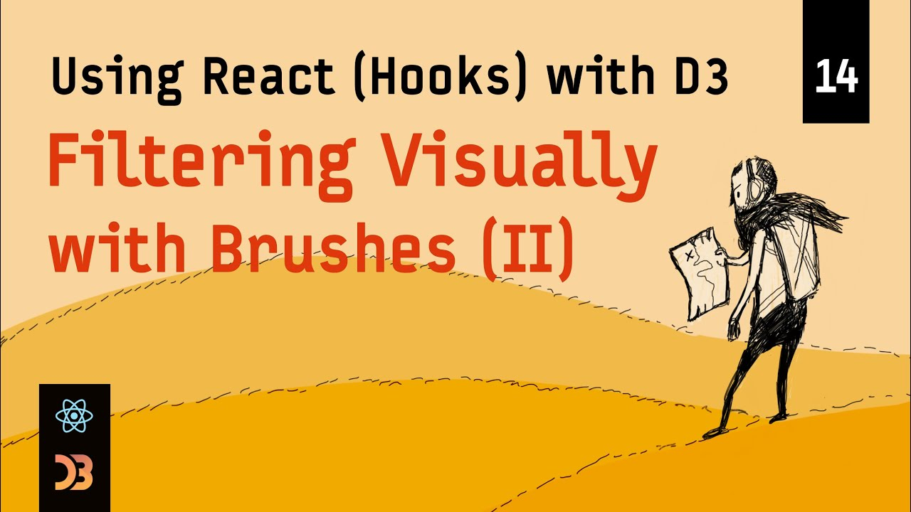 Using React (Hooks) with D3 – [14] Filtering Visually (with Brushes, Part II)
