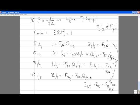 Classical Mechanics, Lecture 18: Canonical Transformations. Generating Functions.
