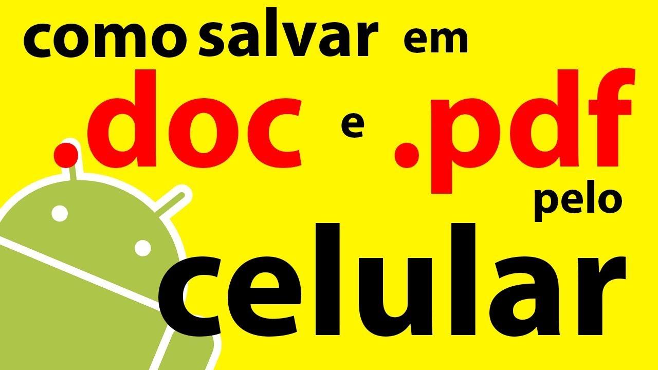 Android celular pdf para