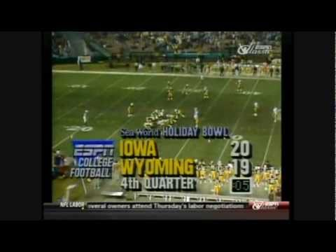 1987 Holiday Bowl - #18 Iowa vs. Wyoming Highlights