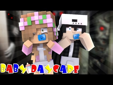 MONSTERS IN THE CLOSET! Minecraft Baby Daycare w/LittleKellyandCarly, Raven and Leo (Roleplay)