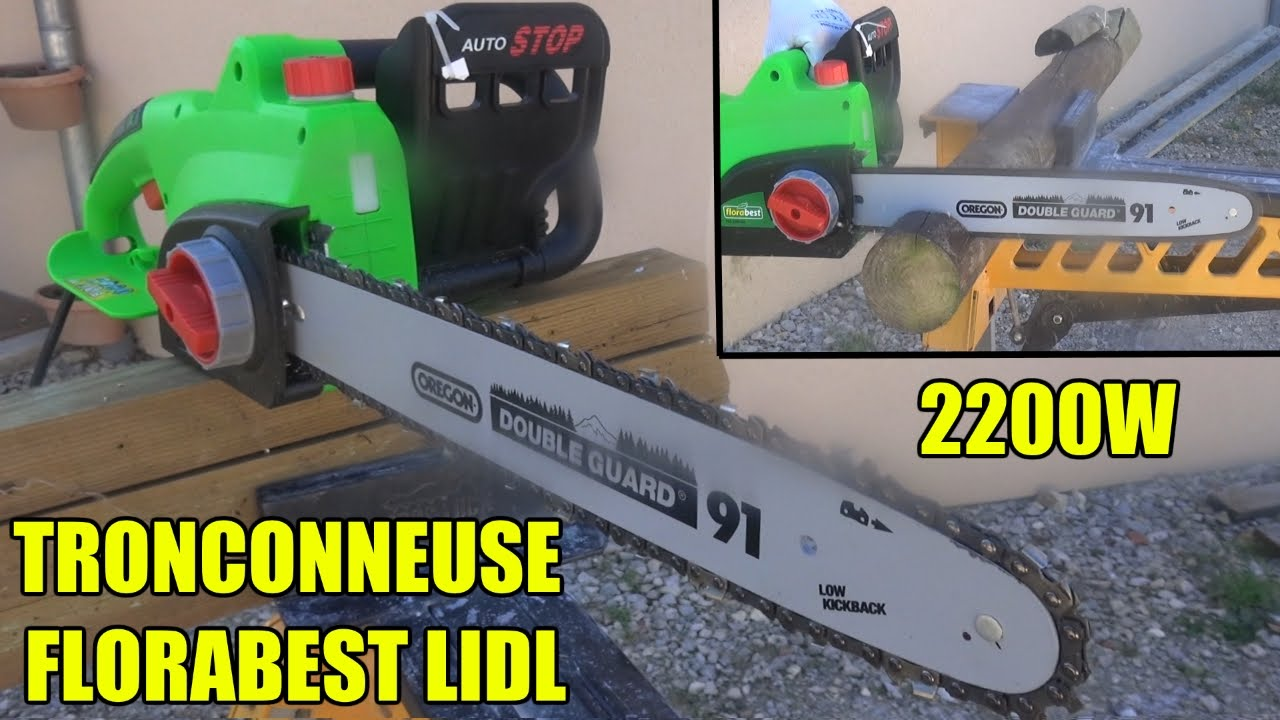tronconneuse electrique lidl florabest fks 2200w electric chainsaw elektro kettens ge youtube. Black Bedroom Furniture Sets. Home Design Ideas
