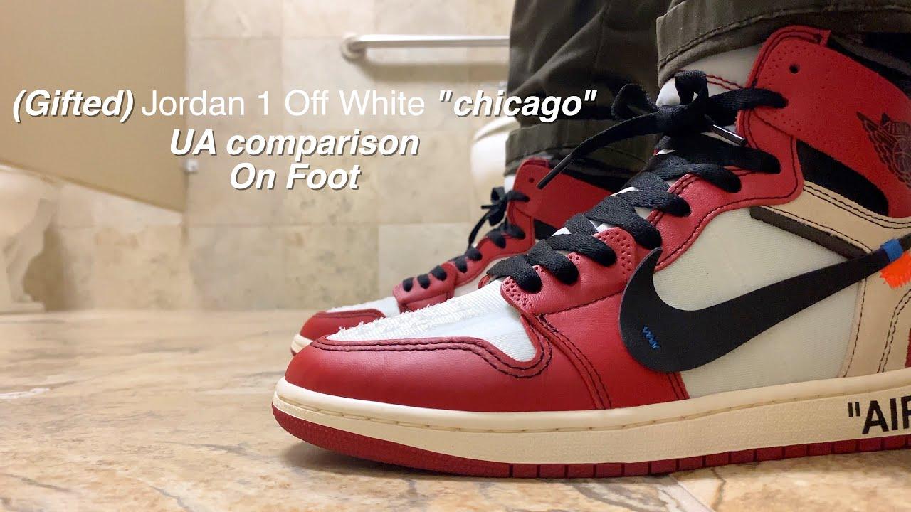 Authentic vs. Unauthorized Off-White x Air Jordan 1 Comparison ...