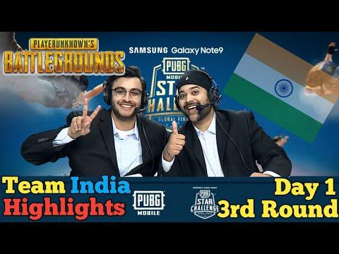 Pubg Mobile Star Challenge Dubai Match Highlight 3rd Round Day 1✔️Team India Vs RRQ Vs Evos Vs CPT