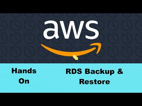 RDS Backup & Restore #39 #HowTo