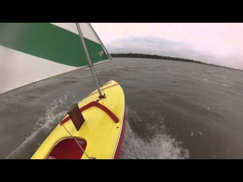 Sailing A Sunfish In 20 Knot Wind