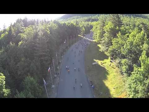 Starting Line Flyover - Wilmington Whiteface 100k