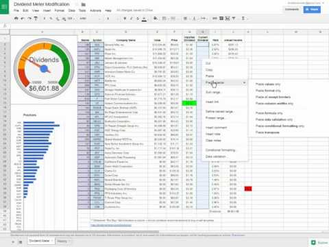 Improving Investment Spreadsheet Performance