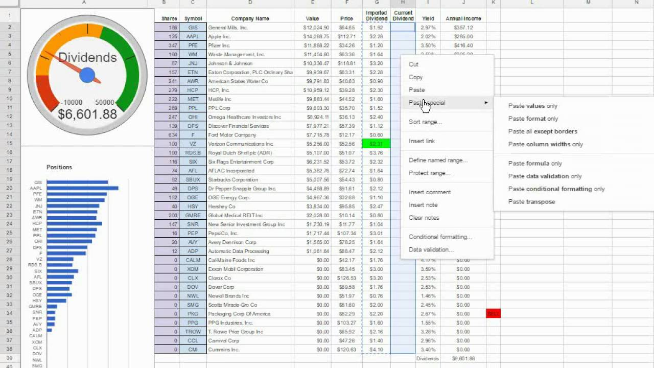 improving investment spreadsheet performance youtube